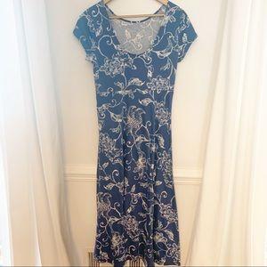 Chaps - Blue/White Floral Dress